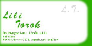 lili torok business card